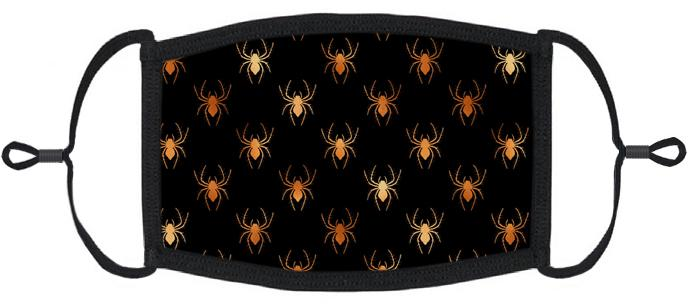 Halloween Spiders Fabric Face Mask
