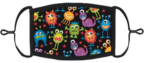 LITTLE KIDS - Silly Monsters Fabric Mask
