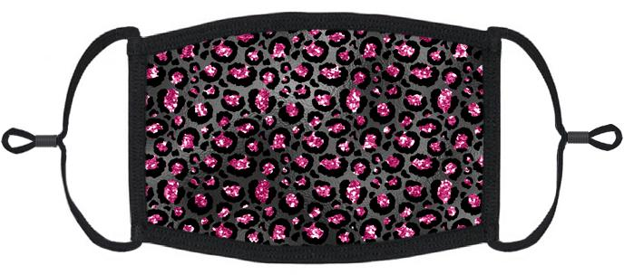 Fuchsia Cheetah Print Fabric Face Mask