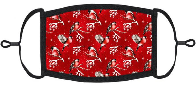 Winter Birds Fabric Face Mask
