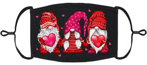 Love Gnomes Fabric Face Mask (PRE ORDER Ships by 3/10)