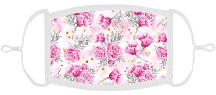 Pink Roses Fabric Face Mask