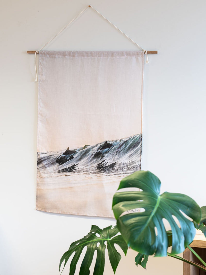 """Dolphins"" — Wall Tapestry"