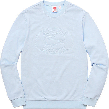 Supreme/Lacoste Pique Crewneck - Light Blue