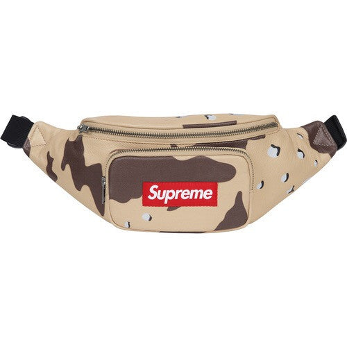Supreme Leather Waist Bag - Desert Camo