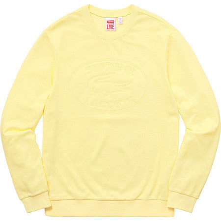 Supreme/Lacoste Pique Crewneck - Light Yellow