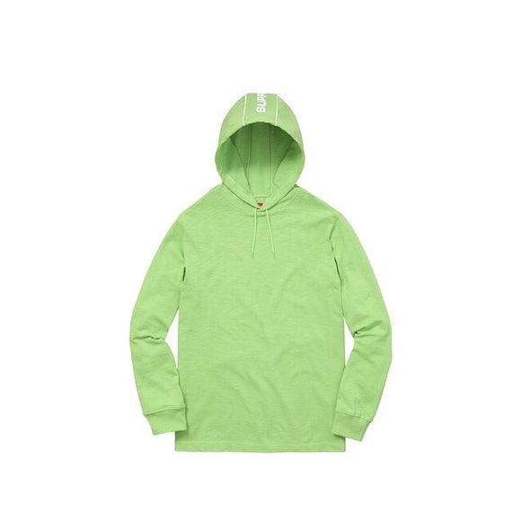 Supreme Hooded Stripe L/S Top - Lime Green