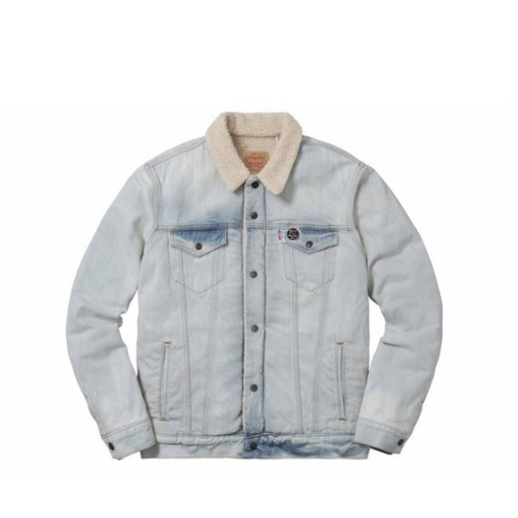 Supreme/Levi's Bleached Sherpa Trucker Jacket