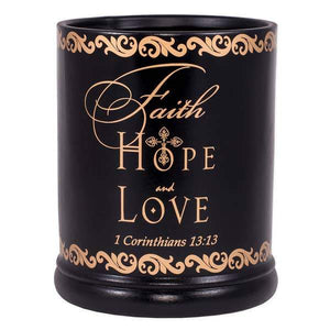 Faith Hope Love Jar Candle Warmer