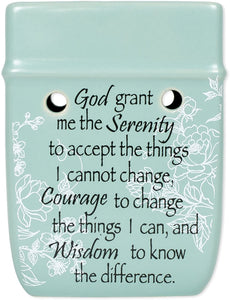 2 PC Set Proverbs 31 Woman Serenity Prayer Ceramic Stone Plug-in Candle Warmers - The Candle Shack