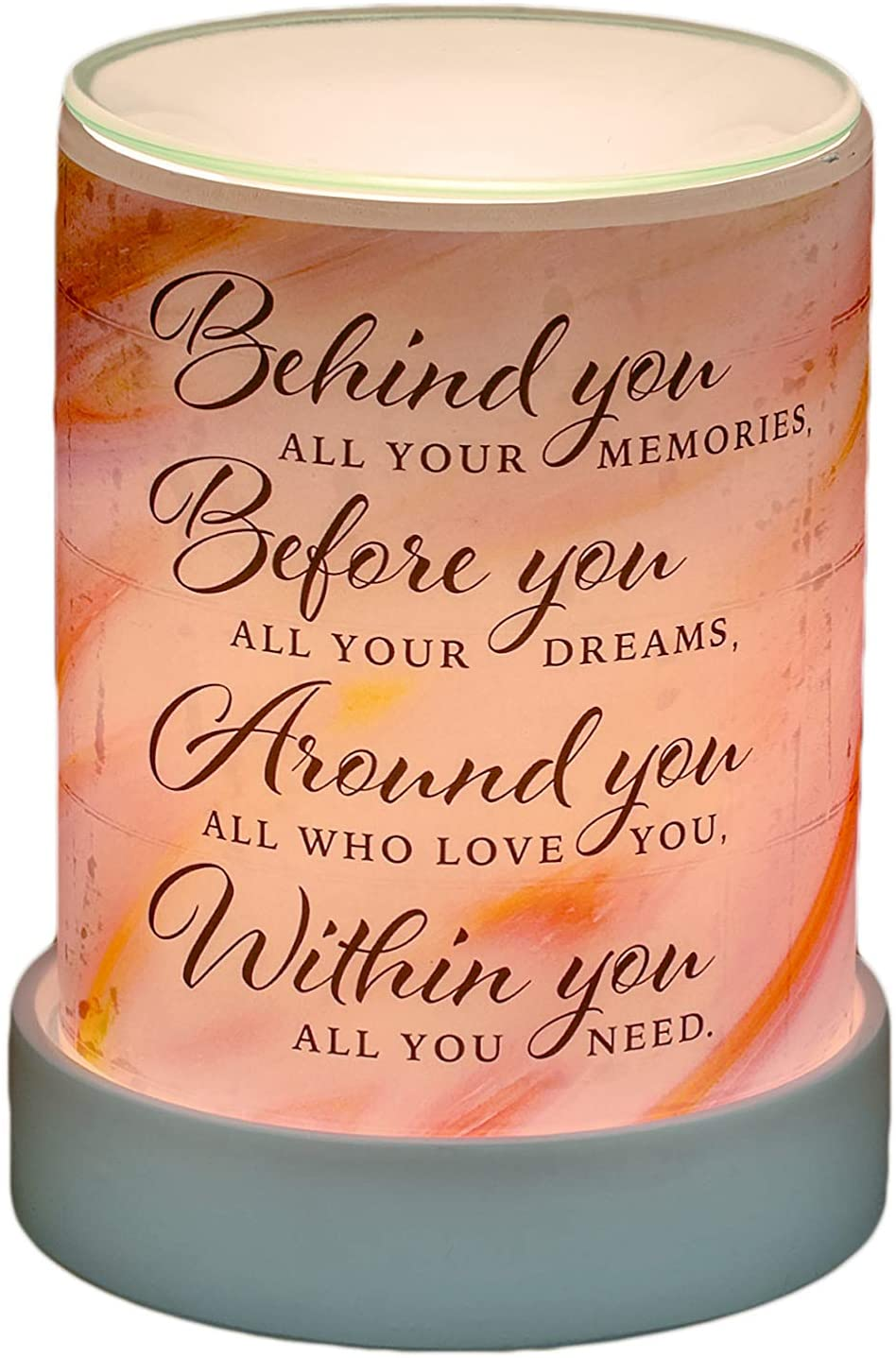 Behind You All Your Memories Frosted Glass Illuminated Scent Warmer - The Candle Shack