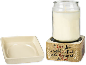 Love You Bushel and a Peck Ceramic Stone 2-in-1 Tart Oil Wax Candle Warmers - The Candle Shack