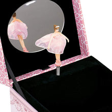 Load image into Gallery viewer, Cottage Garden Daughter Danced Into My Heart Pink Ballerina Musical Box Plays Tune Swan Lake - The Candle Shack