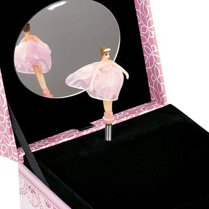 Cottage Garden Daughter Danced Into My Heart Pink Ballerina Musical Box Plays Tune Swan Lake - The Candle Shack