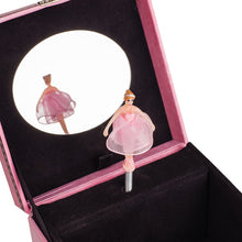 Load image into Gallery viewer, Cottage Garden Sweet Granddaughter A Star Pink Papier Rotating Ballerina Musical Jewelry Box Plays Swan Lake - The Candle Shack