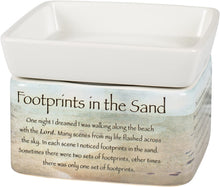 Load image into Gallery viewer, Footprints in The Sand Ceramic Stoneware Electric 2 in 1 Jar Candle and Wax and Oil Warmer - The Candle Shack