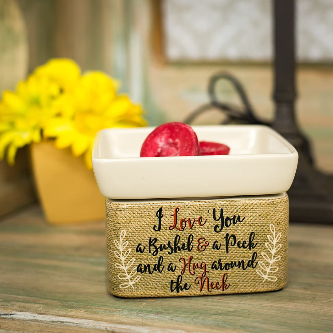 Love You Bushel and a Peck Ceramic Stone 2-in-1 Tart Oil Wax Candle Warmers