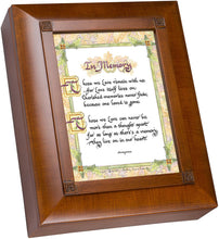 Load image into Gallery viewer, Memory Old World Script Woodgrain Remembrance Keepsake Box