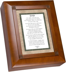 Cottage Garden Dad We Will Miss You Wood-grain Remembrance Keepsake Box - The Candle Shack