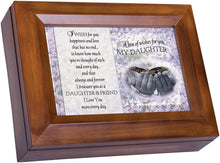 Load image into Gallery viewer, Cottage Garden Box of Wishes for You Daughter Wood grain Digital Keepsake Music Box Plays The Dance - The Candle Shack
