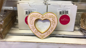 Kate Aspen Modern Romance Heart Frame, Pink and Gold - The Candle Shack
