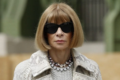 Anna Wintour necklace and sunglasses