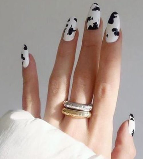 cowhide nails trend cheap