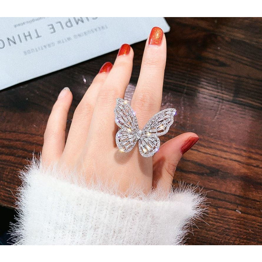 EMERGE - STATEMENT BUTTERFLY RING - Itgirl Accessories Store