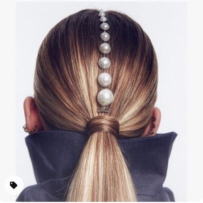 MAIN CHICK - PEARL PONYTAIL HAIR ACCESSORY - Itgirl Accessories Store