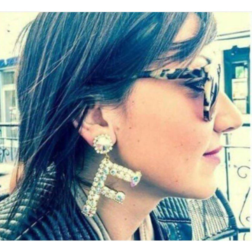 TO THE LETTER - STATEMENT EARRINGS - Itgirl Accessories Store