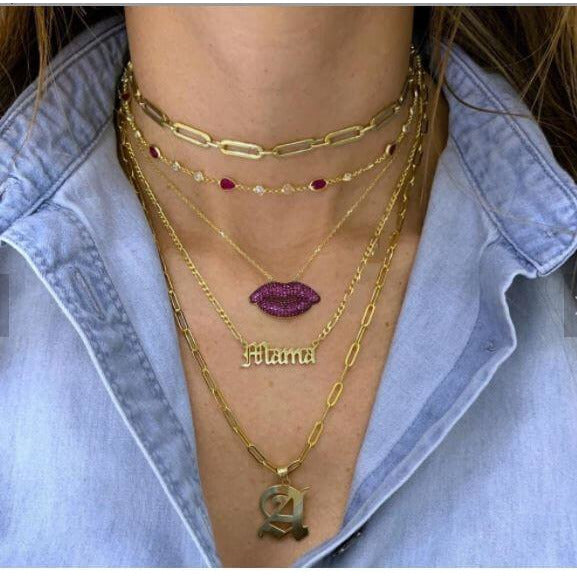 KISS AND TELL - WOMEN'S PENDANT NECKLACE - Itgirl Accessories Store