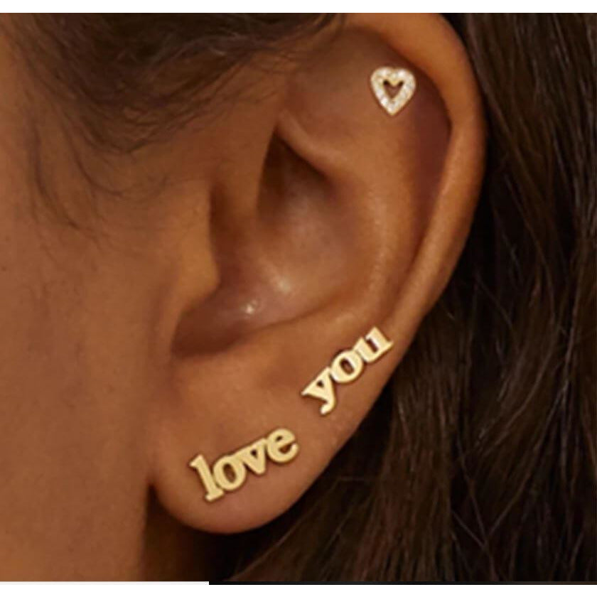 LOVE YOU BAE - WOMEN'S EARRINGS STUDS - Itgirl Accessories Store