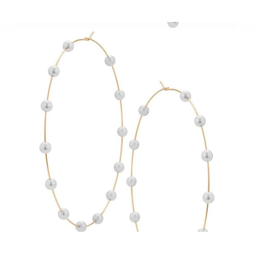 HOOP EARRINGS - PEARL THANG - Itgirl Accessories Store