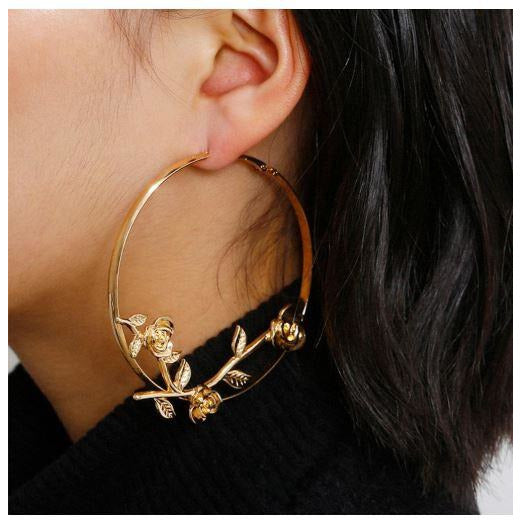 EVERYTHANG ROSY - HOOP EARRINGS - Itgirl Accessories Store