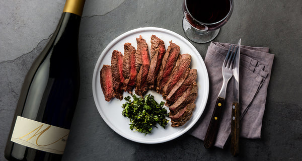 Parsley-Garlic Butter with Grilled Rib-Eye Steak