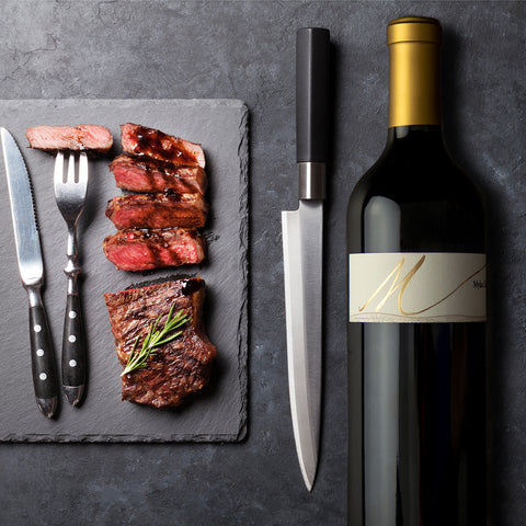 steak with red wine reduction