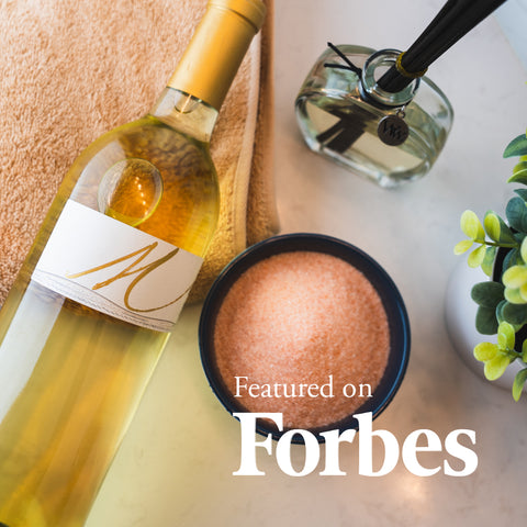 Myka Cellars Sauvignon Blanc in Forbes for a Spa Day Valentine's Day