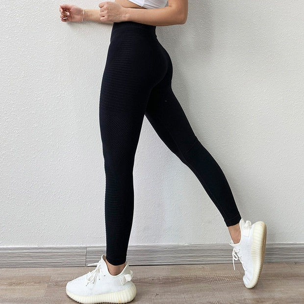 Black High Waisted Leggings with Tummy Control