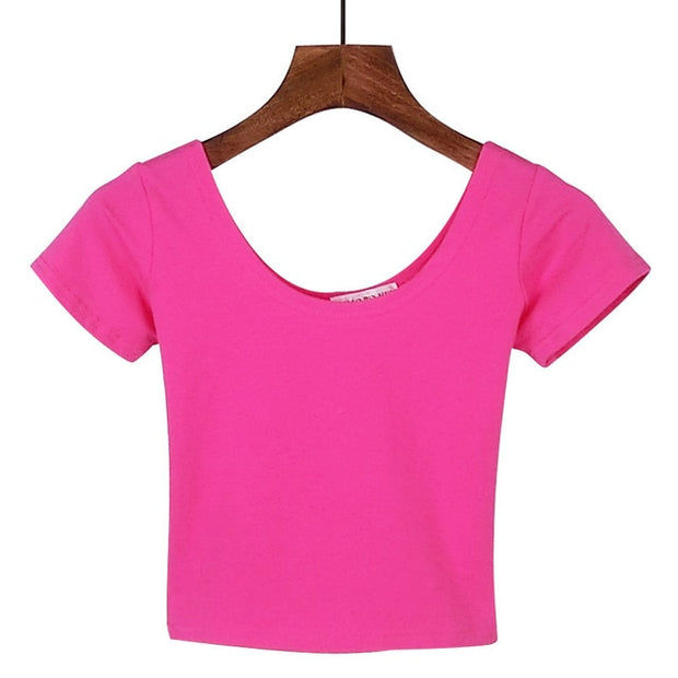 Rose Red Women's Crop Top