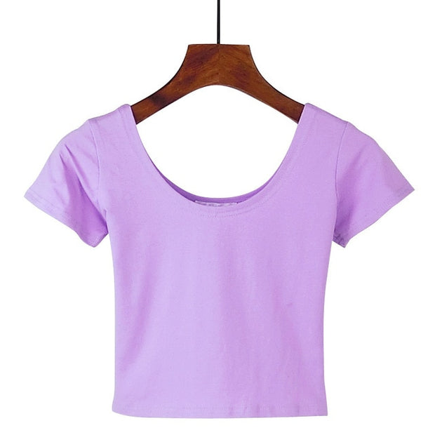 Light Purple Women's Crop Top
