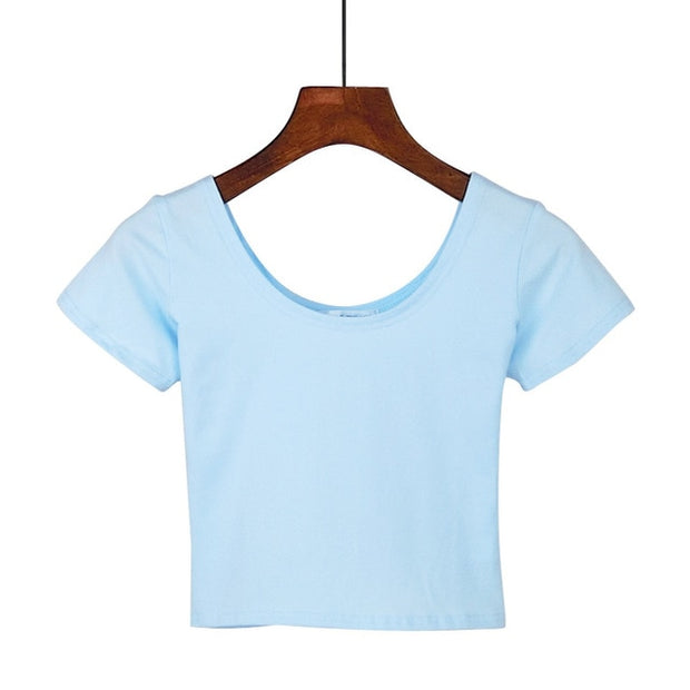 Sky Blue Women's Crop Top