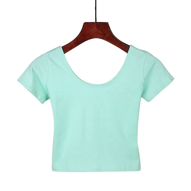Mint Green Women's Crop Top