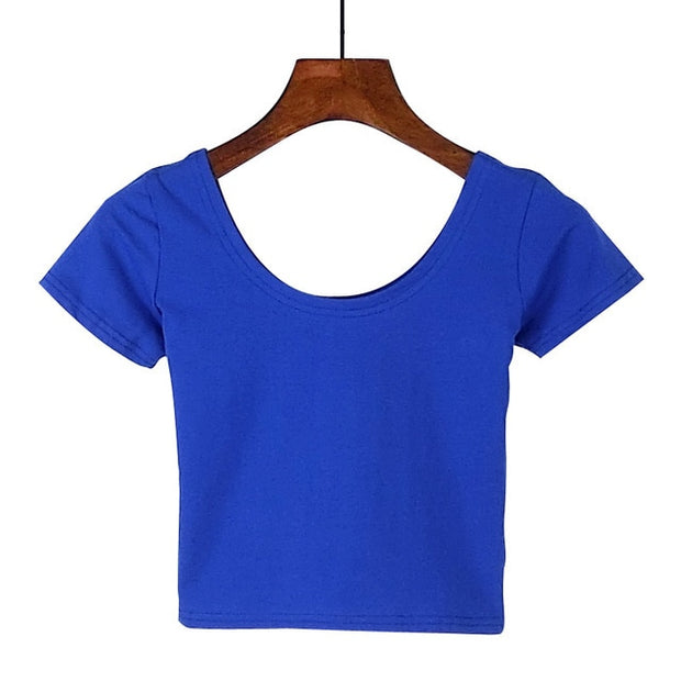 Blue Women's Crop Top