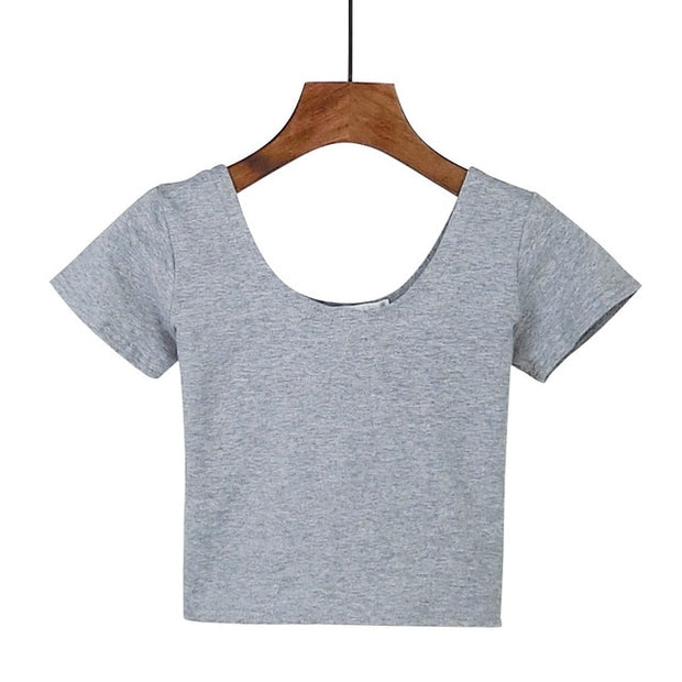 Gray Women's Crop Top