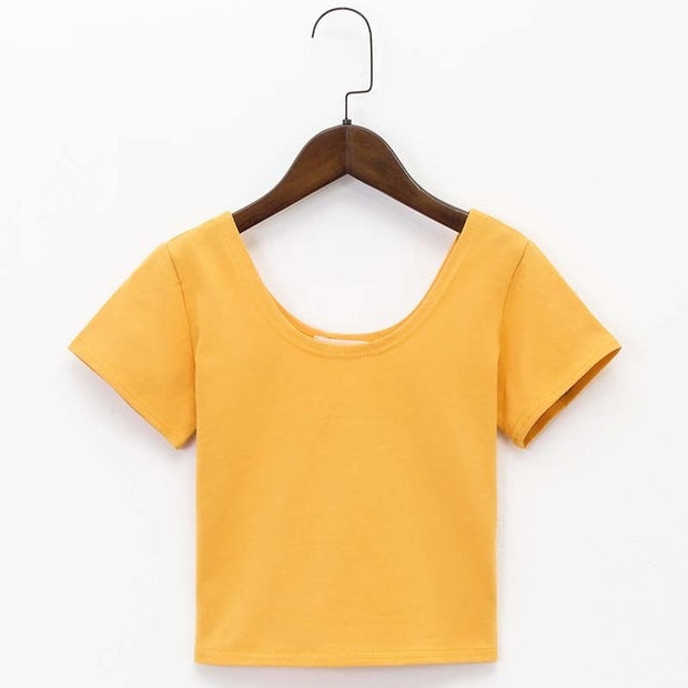 Yellow Women's Crop Top