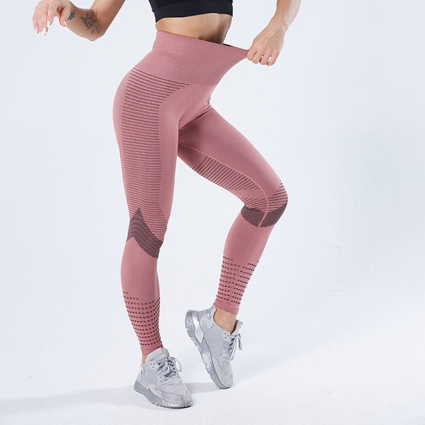 Pink Women's Leggings, Push-Up