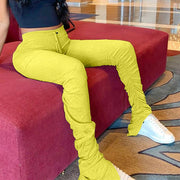 Yellow Stacked Leggings