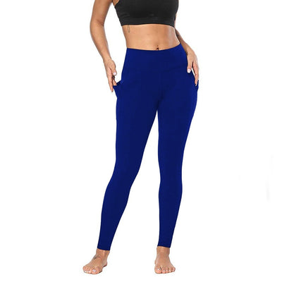 Blue Women's Leggings with Pockets