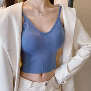 Blue Sleeveless Camisole Top