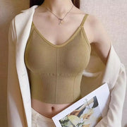 Khaki Sleeveless Camisole Top